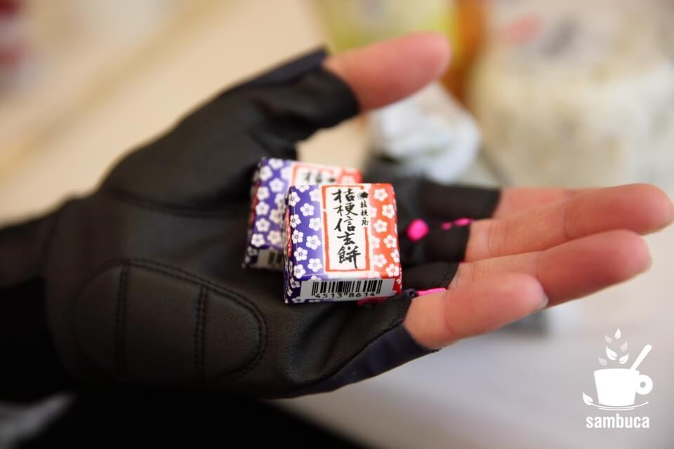「チロルチョコ 桔梗信玄餅」40円。