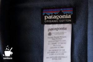 パタゴニアのオーガニックコットンのシャツ