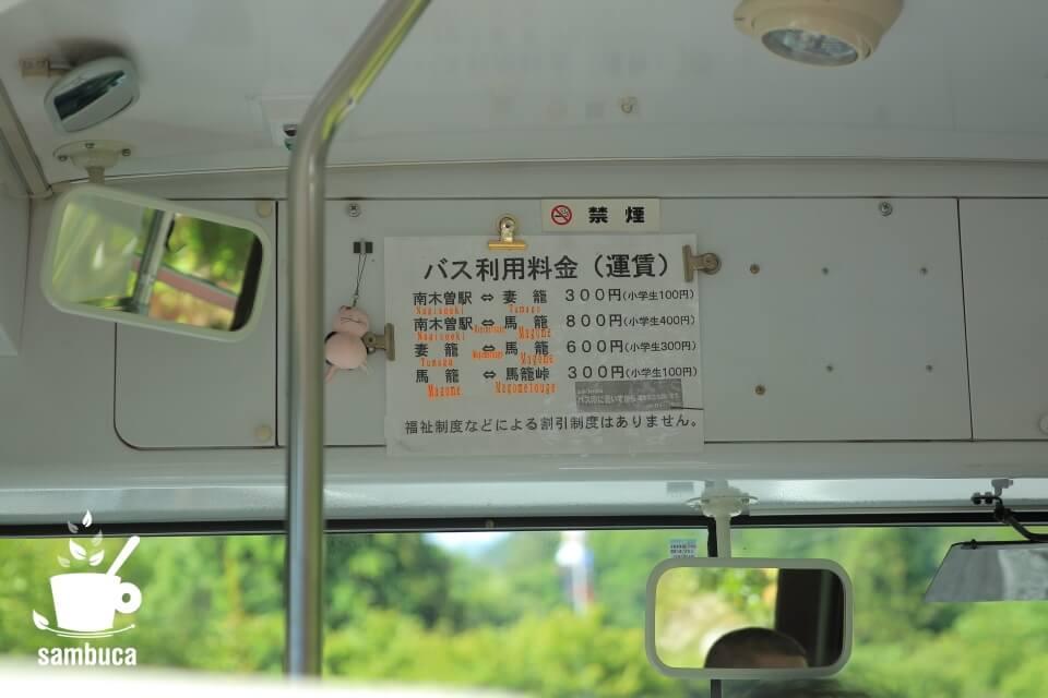 馬籠から妻籠はバスで