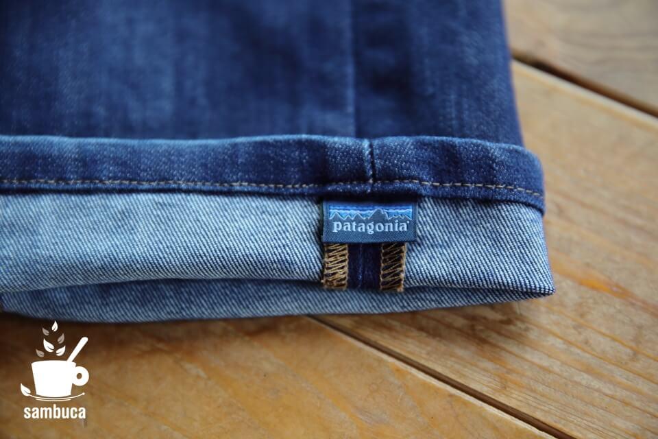 パタゴニアのジーンズの裾部分
