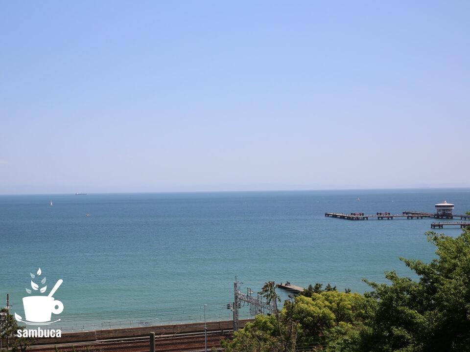 神戸、須磨の一ノ谷町から眺める海