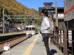 奈良井駅から電車に乗って
