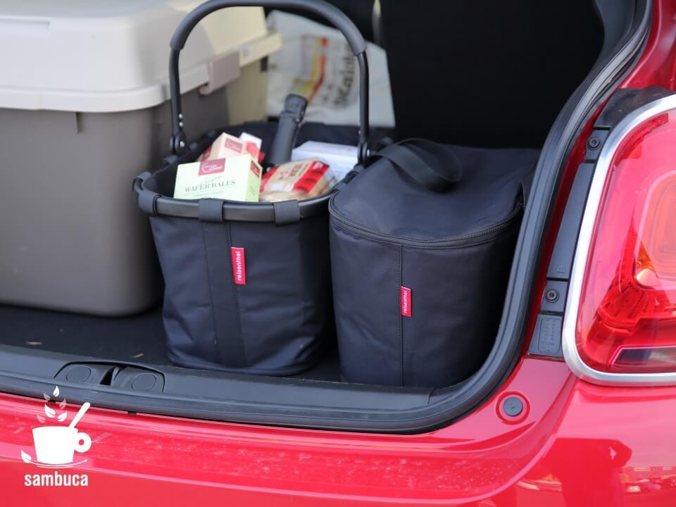 reisenthel(ライゼンタール)のショッピングバッグをFIAT500Xのトランクに