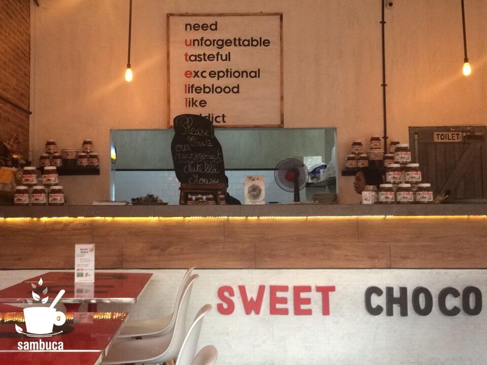 バリ島のヌテラ・カフェ「SWEET CHOCO」