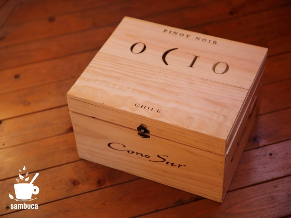 チリの「コノスル」のワイン木箱