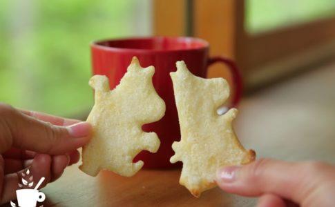ムーミンのクッキー型で作ったラスク