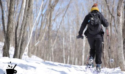 乗鞍高原でスノーシュー・ハイキング
