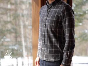 MUJI(無印良品)のオーガニックコットン製のネルシャツ