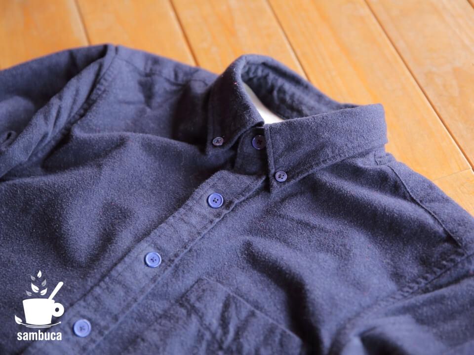 MUJI(無印良品)のオーガニックコットンフランネルボタンダウンシャツ