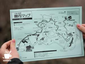 六甲高山植物園の園内マップ