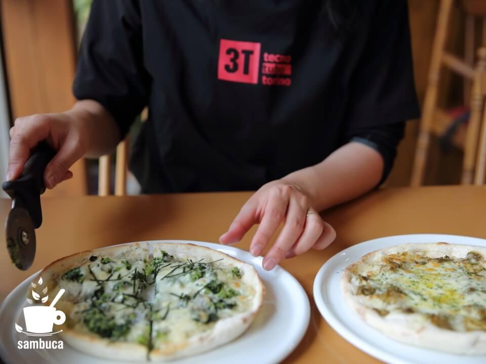 湯けむり館内のプリマベーラでピザ・ランチ