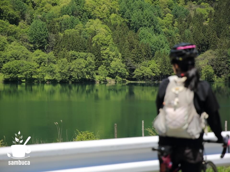 中綱湖に到着