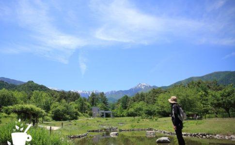 「段々原っぱ」から常念岳を望む