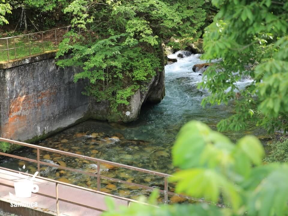 烏川の上流にある取水口