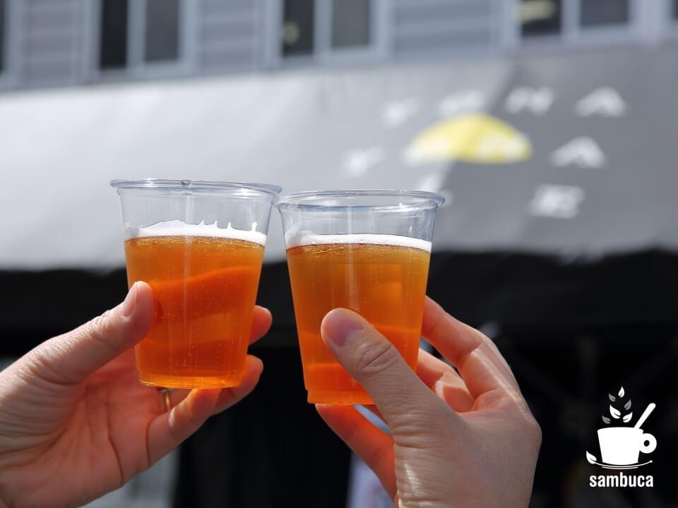 「大人の醸造所見学ツアー」のウェルカムビール
