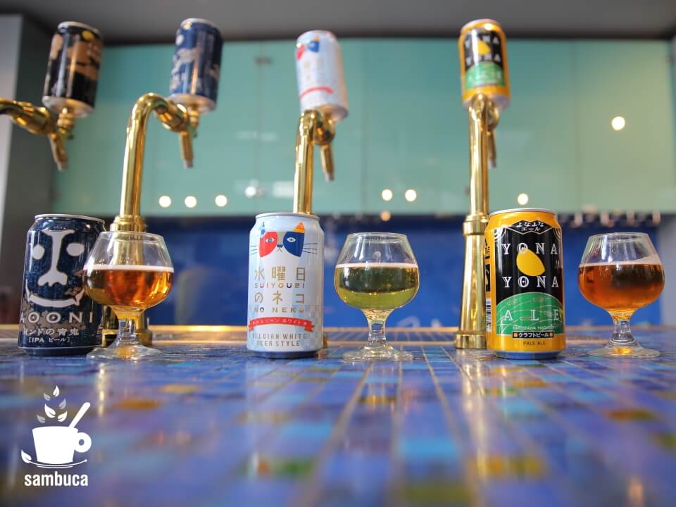5種類のビールのテイスティング
