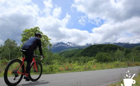 初夏の乗鞍高原でサイクリング
