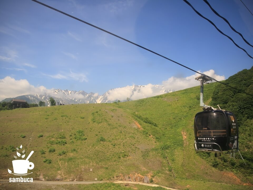 「岩岳ゴンドラリフト ノア」からの眺め