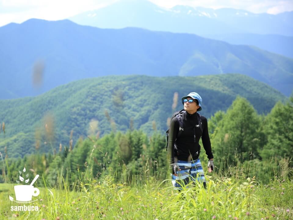 信州の山をハイキング