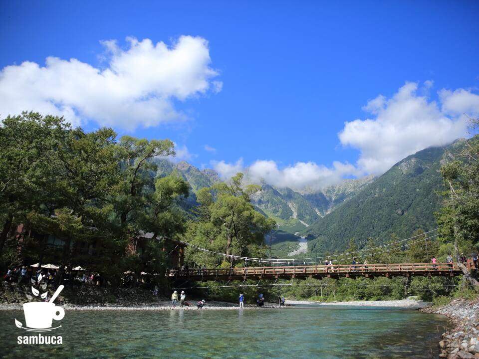 河童橋から眺める穂高連峰