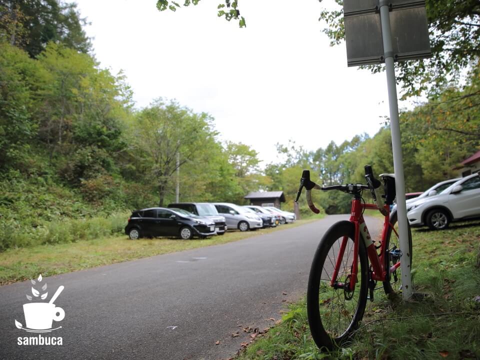 白樺峠の駐車場