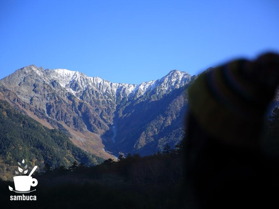 大正池から眺める穂高連峰