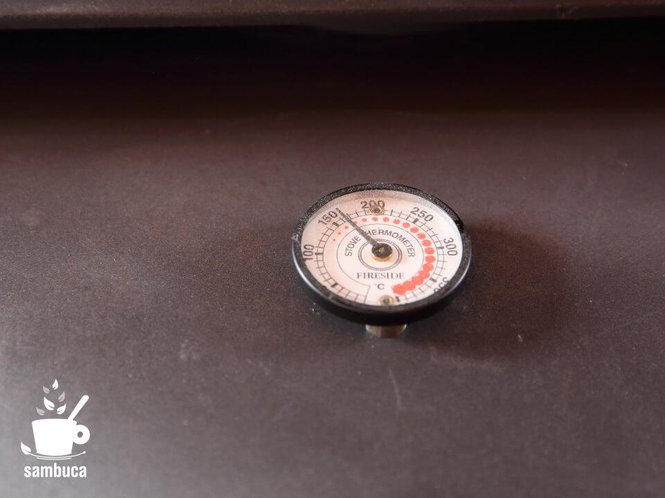 薪ストーブのサーモメーター