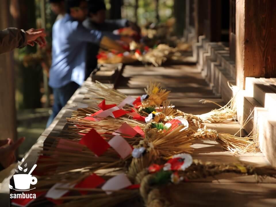 神社でお祓いをしてもらった注連飾り