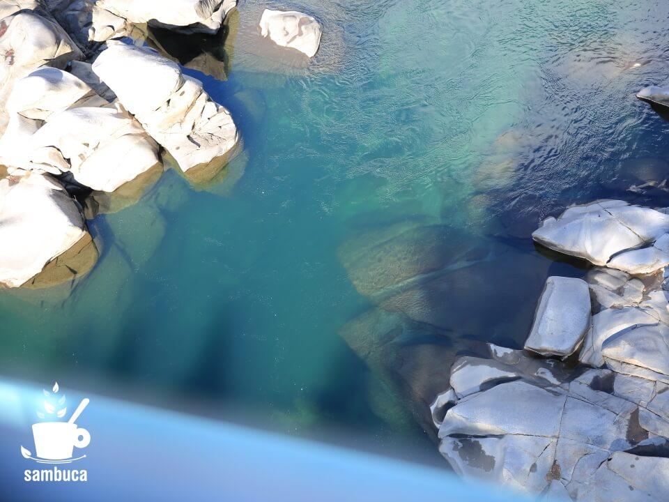 橋の下に見える木曽川
