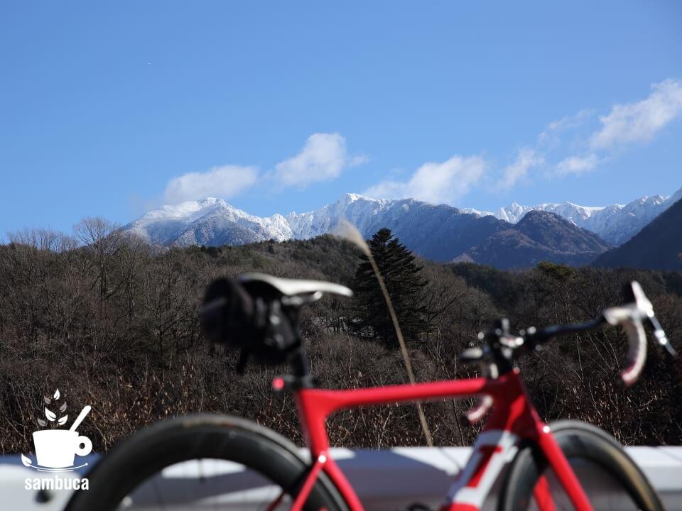 県道508号線(上松南木曽線)から眺める中央アルプス
