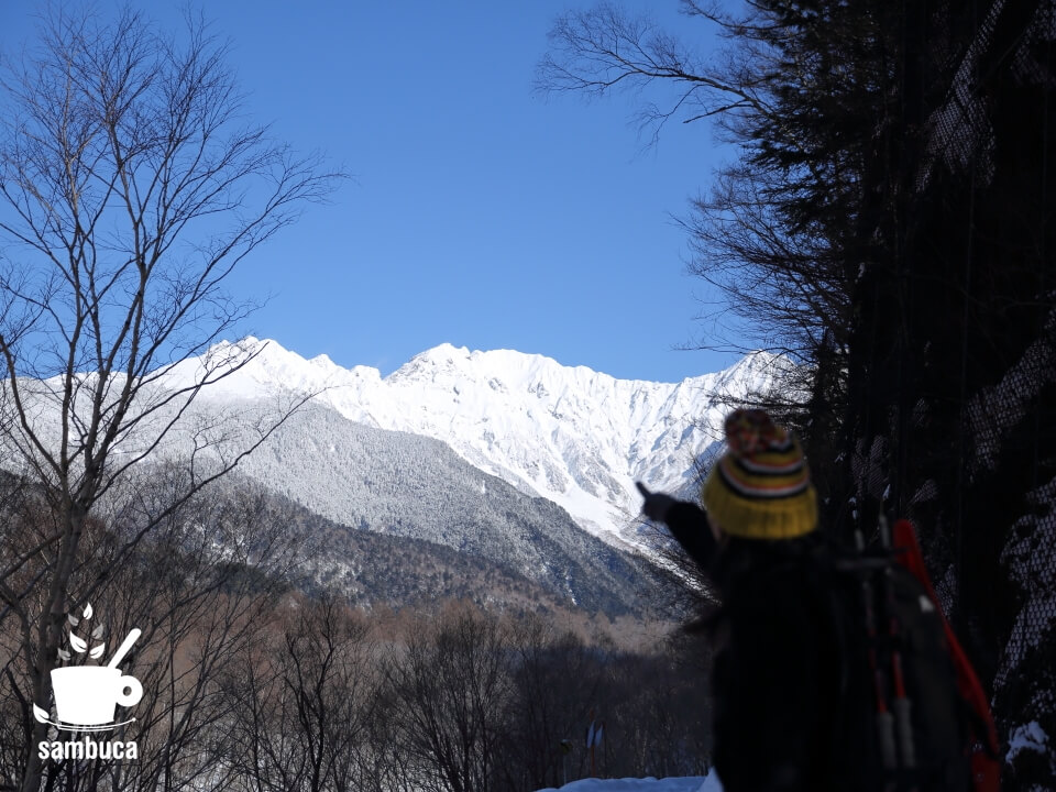 穂高連峰が見えてきました!