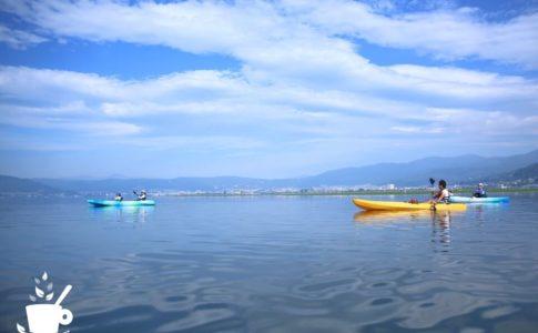 諏訪湖のカヤックツアー