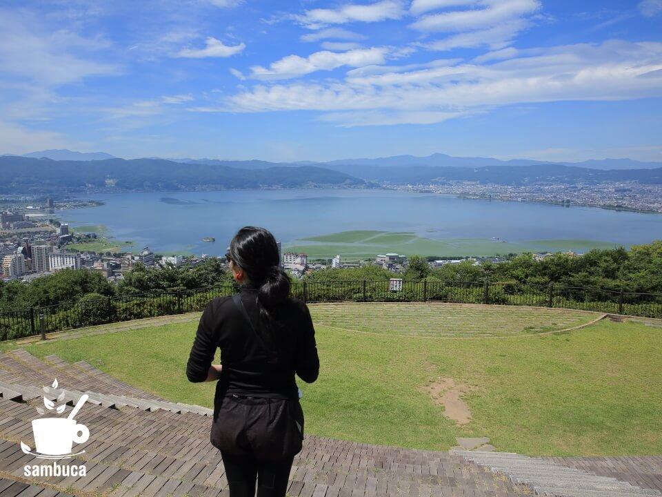 立石公園から眺める諏訪湖