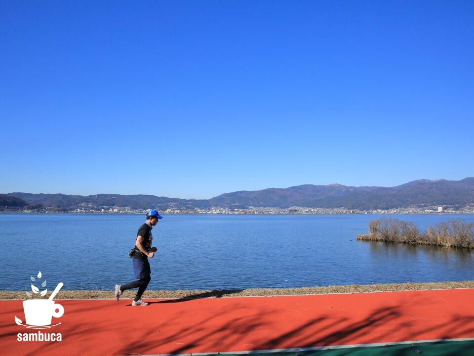 諏訪湖のランニングコース