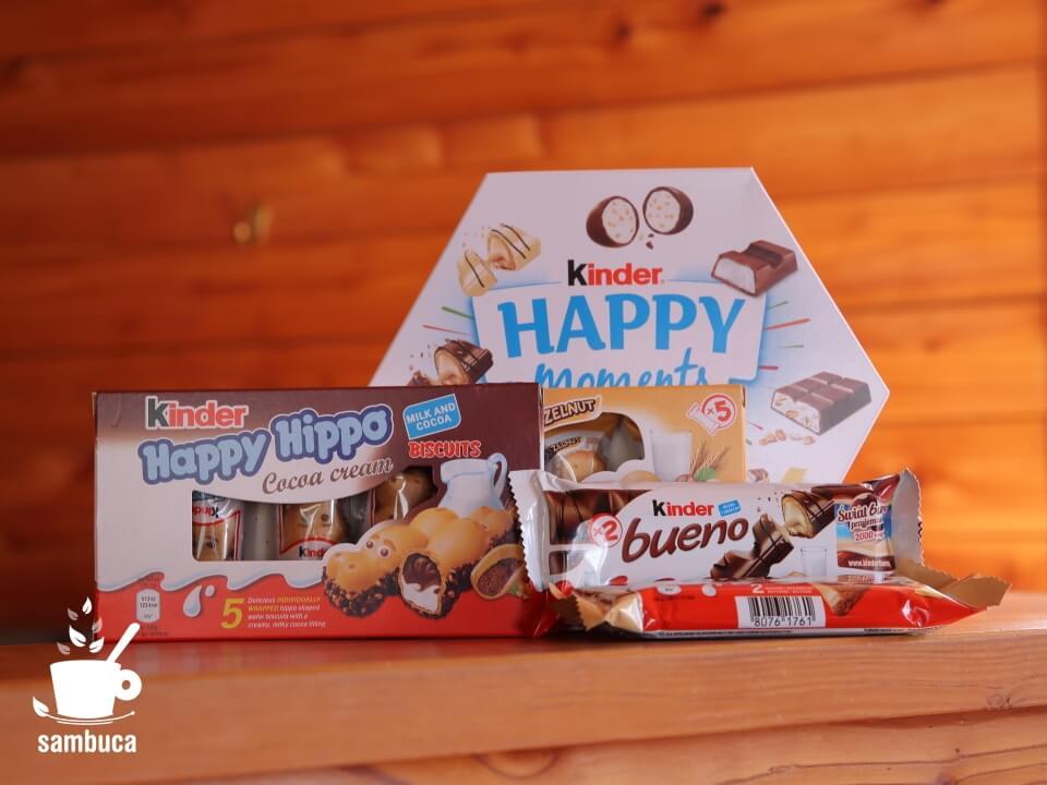 ハッピーヒッポなど、今回ゲットしたKinderのお菓子たち