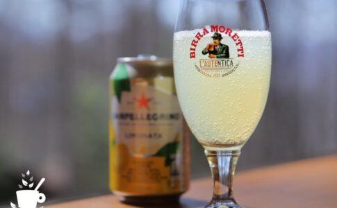 モレッティビールのグラス