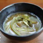 信州の山菜料理、うど汁