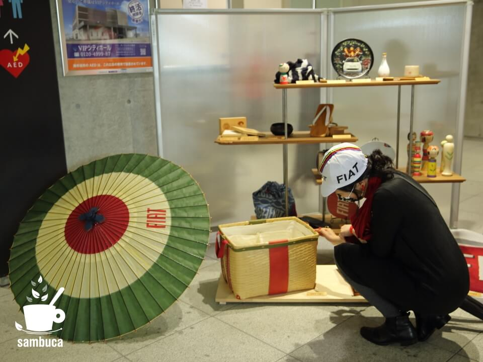 FIAT×MADE IN JAPAN PROJECTの展示コーナー
