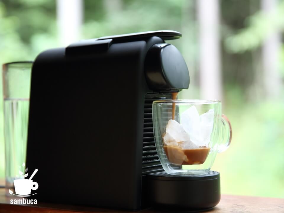 ネスプレッソで作るKIMBOのアイスコーヒー