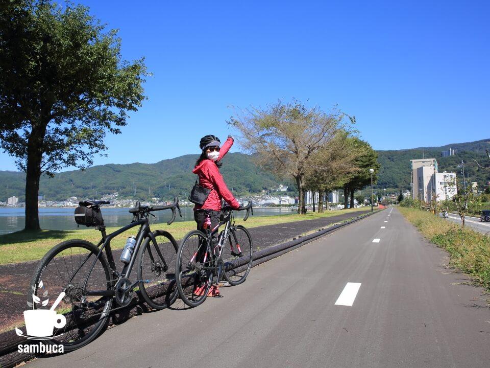 諏訪湖サイクリングロード、延伸中です